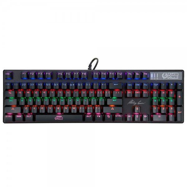 teclado gamer flakes power royale mecanico 104 teclas iluminado flktm001 elg 1