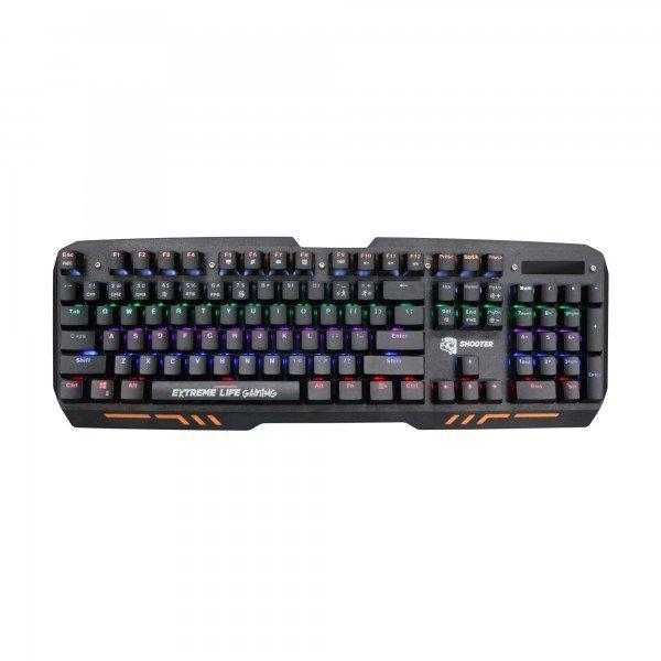 teclado gamer mecanico 104 teclas led iluminado mechanical shooter tgms elg 1
