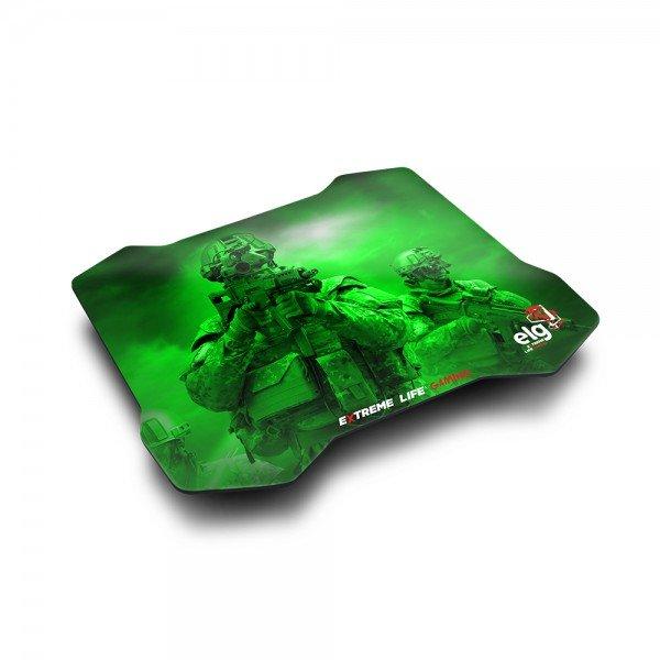 mouse pad gamer sense control 30x23cm verde mpsc elg 1