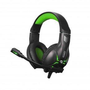 headset gamer arena com microfone preto e verde hgar elg 1