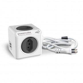 powercube extended 3m usb pwc x4u 3m filtro linha tomada 1