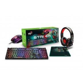 combo gamer striker 4 em 1 headset mouse teclado mouse pad cgsr41 elg 1
