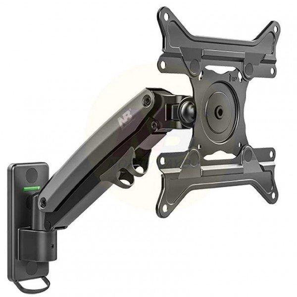 suporte para tv articulado 20 a 43 com pistao a gas e ajuste de altura f425 nb preto 1