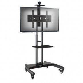 pedestal para tv de 32 a 75 rack com rodizios a06v6 elg 4