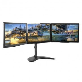 suporte para 3 monitores 15 a 27 gamer t1236n 2