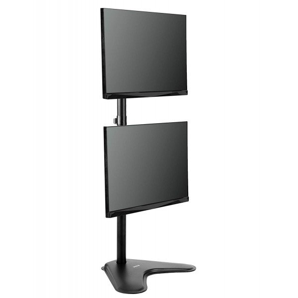 suporte 2 monitores vertical com base v1224n 3