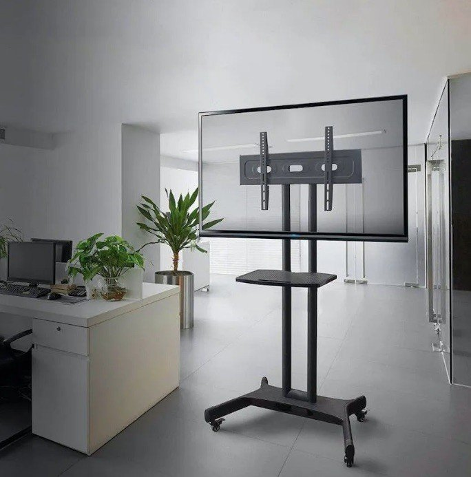 pedestal tv reuniao escritorio