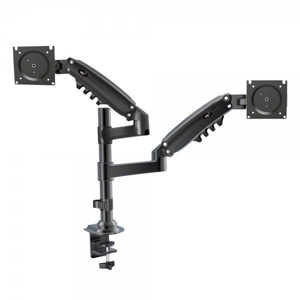 suporte para 2 monitores multiarticulado fh160n com torre e pistao a gas 1