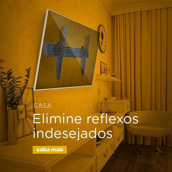 elimine reflexos com suportes de tv inclináveis e articulados