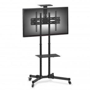 pedestal para tv 32 a 75 suporte com rodizios cts600