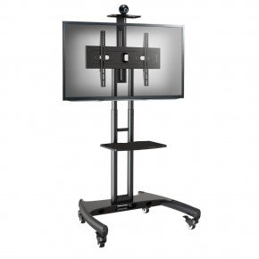 pedestal para tv de 32 a 75 rack com rodizios ava 1500 nb
