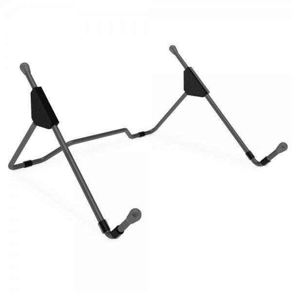 Apoio fixo de mesa para notebook multiajustes de altura cor preta