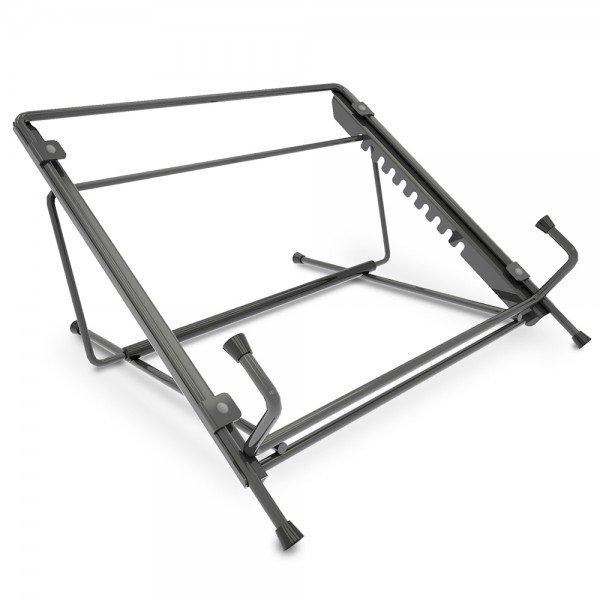 Apoio fixo de mesa para notebook com 10 níveis de altura na cor preta