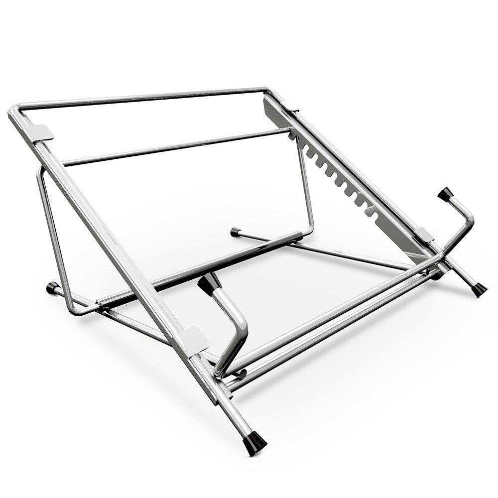 Apoio fixo de mesa para notebook com 10 níveis de altura