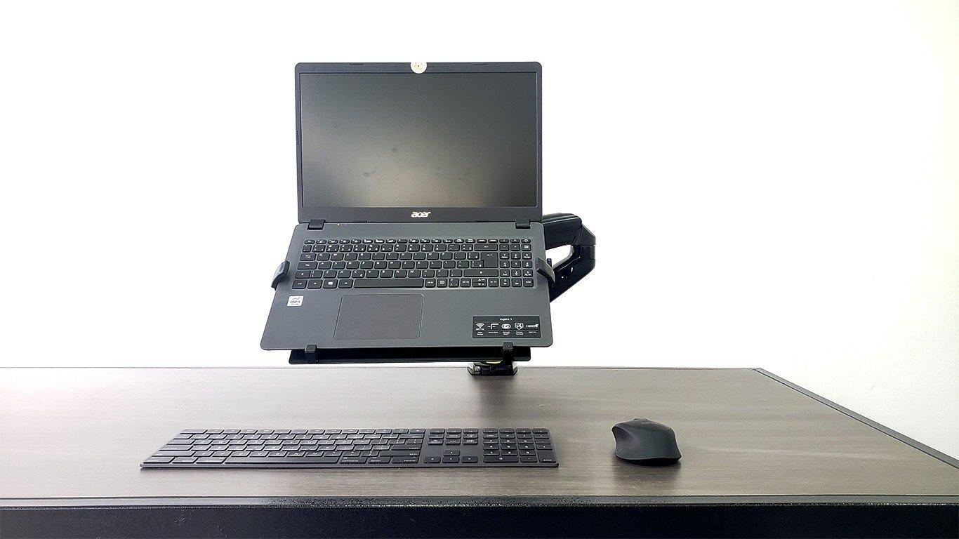 suporte f80n e bandeja para uso em notebooks e laptops
